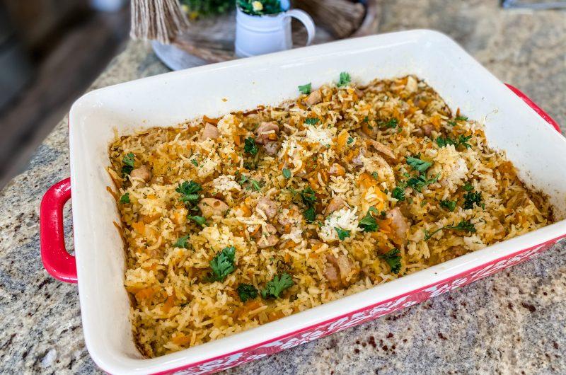 Chicken Carrot Rice Casserole