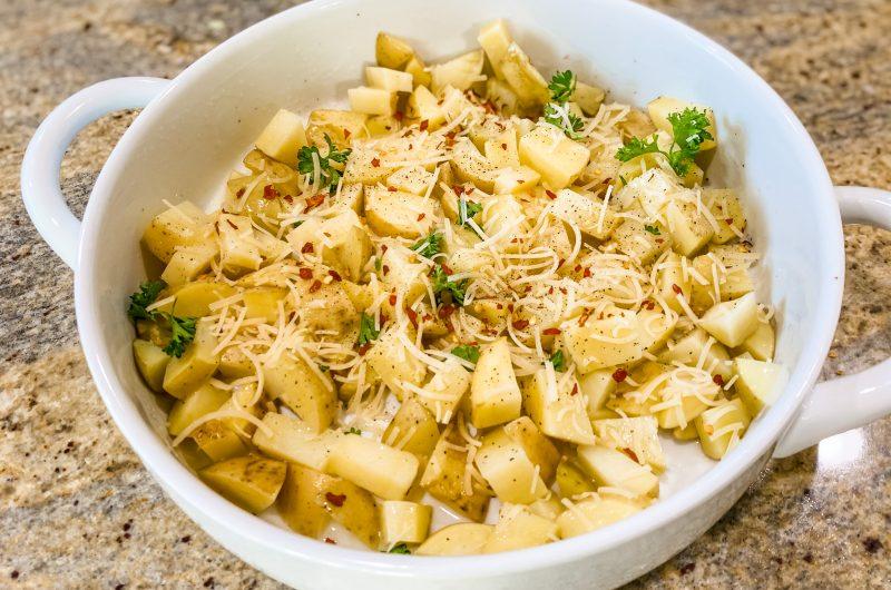 Microwave Garlic Butter Potatoes