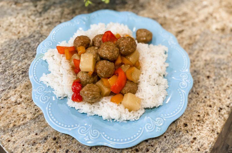 Hawaiian Sweet & Sour Meatballs