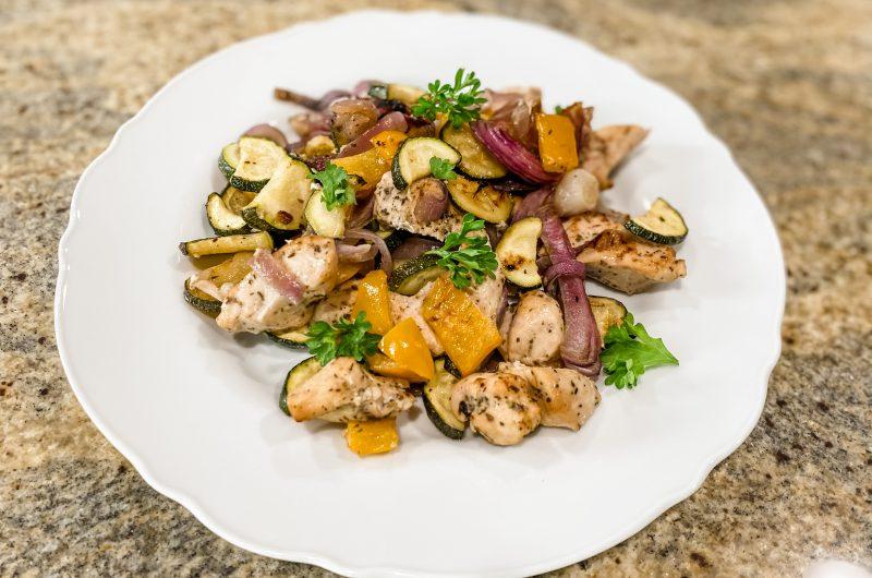 Seasoned Chicken & Veggies