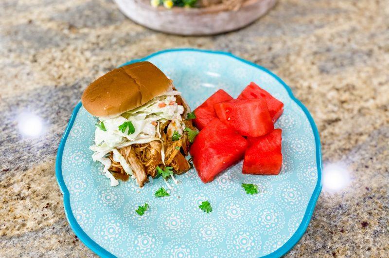 BBQ Chicken Sandwiches - Slow Cooker