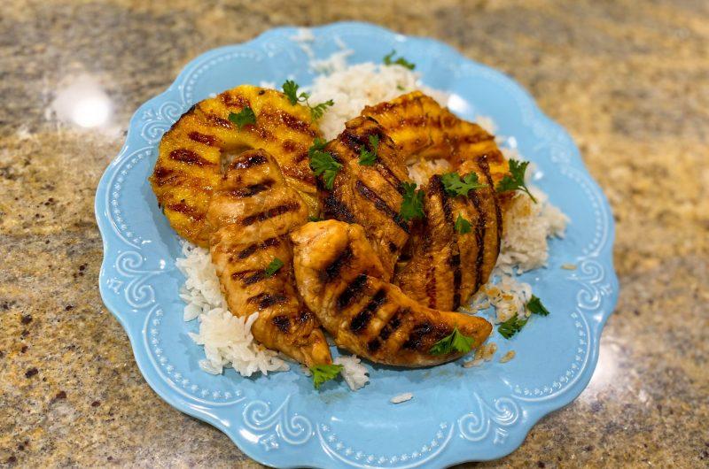 Hawaiian Pineapple Chicken & Coconut Rice